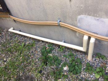 配管の保温が劣化でめくれてきたので耐候性保温材での保温まきまき